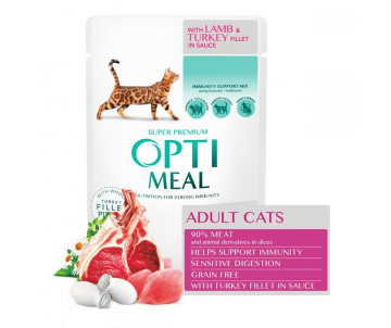 Optimeal Cat Adult Lamb Turkey Wet