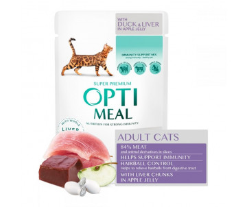 Optimeal Cat Adult Duck Apple in Jelly Wet