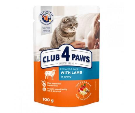 Club 4 Paws Cat Adult Premium Lamb Wet