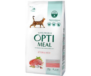 Optimeal Cat Adult Sterilised Beef and Sorghum
