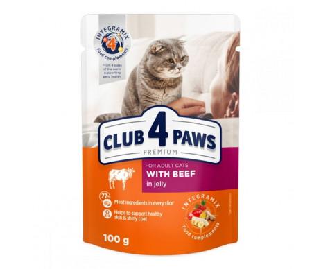 Club 4 Paws Cat Adult Premium Beef Wet