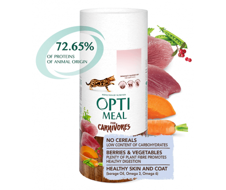 Optimeal Cat Adult Grain Free Duck Vegetables