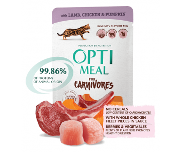 Optimeal Cat Adult Lamb Chicken Pumpkin Wet