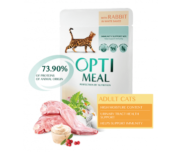 Optimeal Cat Adult Rabbit in White Sauce Wet