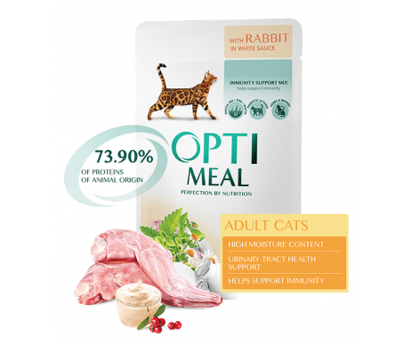 Optimeal Cat Adult Rabbit in White Gravy