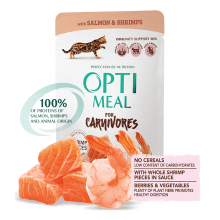 Optimeal Cat Adult Salmon Shrimps Jelly