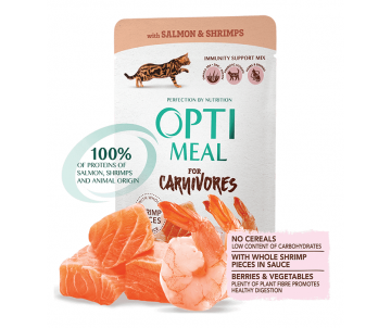 Optimeal Cat Adult Salmon Shrimps Wet