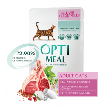 Optimeal Cat Lamb Vegetables in Jelly