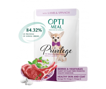 Optimeal Dog Adult Lamb Wet