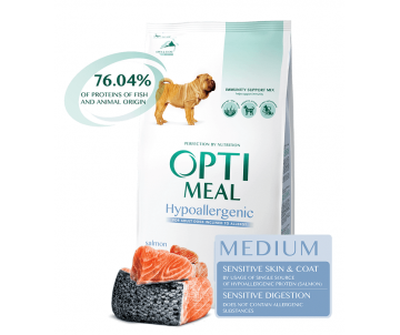 Optimeal Dog Adult Medium Hypoallergenic