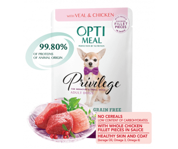 Optimeal Dog Adult Veal Chicken Wet