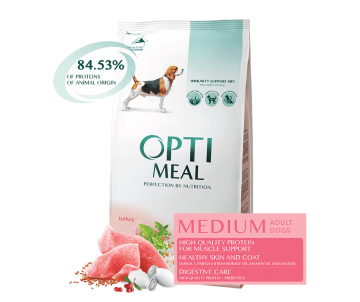 Optimeal Dog Adult Medium Turkey