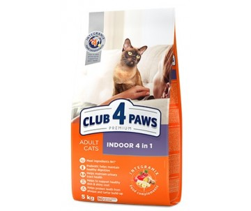 Club 4 Paws Cat Premium Indoor 4in1