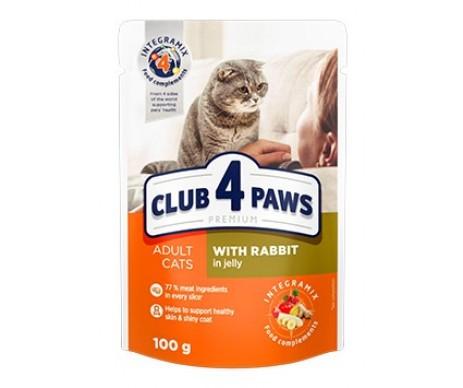 Club 4 Paws Cat Adult Premium Rabbit Wet