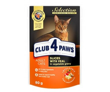 Club 4 Paws Cat Adult Premium Selection Veal Chiken