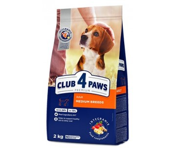 Club 4 Paws Dog Adult Premium Medium Breeds