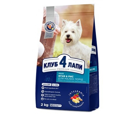 Club 4 Paws Dog Adult Premium Lamb Rice Small Breeds