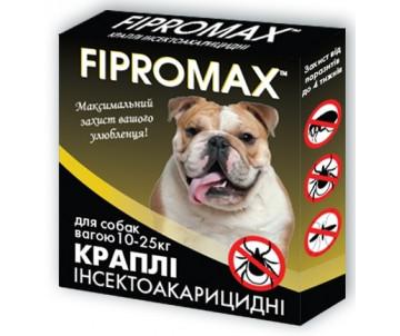 FIPROMAX Капли от блох и клещей для собак средних пород, 1 пипетка