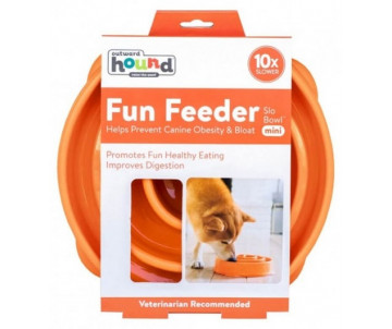 Petstages Fun Feeder Slo-Bowl Orange