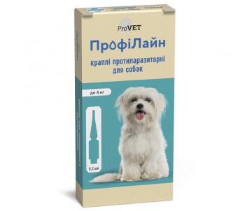 ProVET ПрофиЛайн капли от блох и клещей для собак 1уп.(4 пипетки)