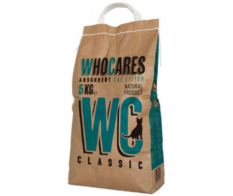 WC WhoCares Classic впитывающий наполнитель в кошачий туалет, без запаха