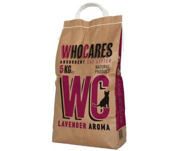 WC WhoCares Lavander впитывающий наполнитель в кошачий туалет с запахом лаванды