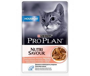 Pro Plan Cat Adult Housecat Nutrisavour Salmon Wet
