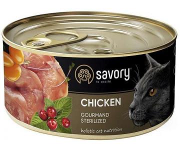 Savory Cat Gourmand Sterilized Сhicken