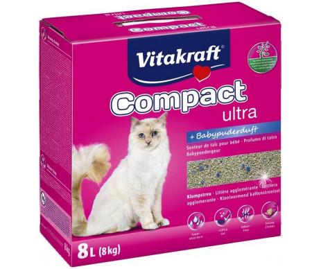 Vitakraft Compact Ultra Plus бентонитовый наполнитель для кошачьего туалета