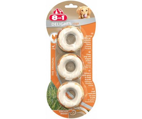 8in1 DELIGHTS RINGS колечки для собак с мясом