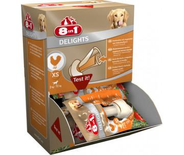 8in1 Delights XS Кость прессованная с курицей для чистки зубов для собак