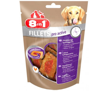 8in1 Fillets Pro Active лакомство для собак куриное филе для улучшения активности