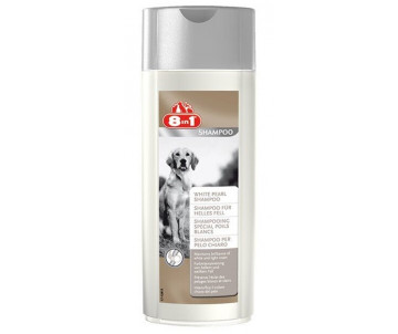 8in1 White Pearl Shampoo шампунь для светлой шерсти собак Белая Жемчужина
