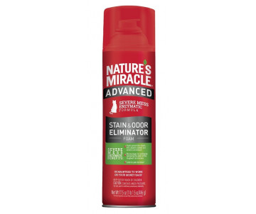 8in1 Nature's Miracle Advanced Formula аэрозоль-пена устранитель пятен и запахов с усиленной формулой для кошек