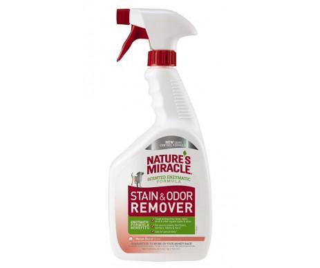 8in1 Natures Miracle Stain and Odor Remover спрей устранитель пятен и запаха для собак дыня