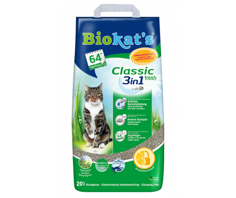 Biokats FRESH (3in1) Наполнитель для кошачьего туалета
