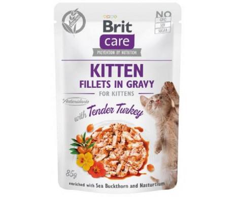 Brit Care Cat Kitten Fillets Turkey In Gravy