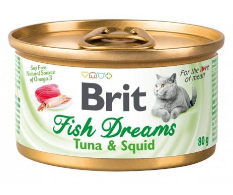 Brit Fish Dreams Cat Adult Tuna Squid Wet