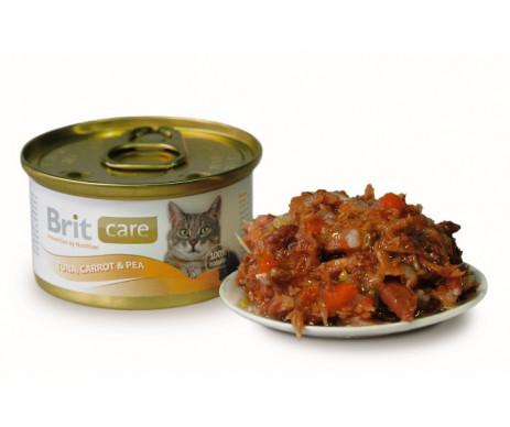 Brit Care Cat Adult Tuna Carrot Peas Wet