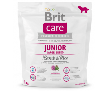 Brit Care Dog Junior Large Breed Lamb Rice