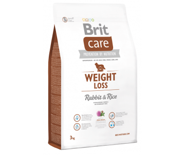 Brit Care Dog Adult Weight Loss Rabbit Rice