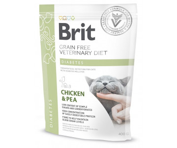 Brit GF Veterinary Diets Cat Diabets беззерновая диета для котов при сахарном диабете