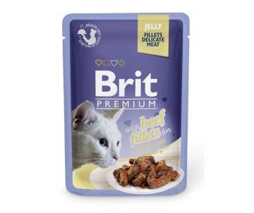 Brit Premium Cat Adult Beef Fillets Jelly pouch