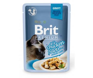 Brit Premium Cat Adult Chicken Gravy pouch