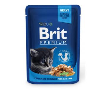 Brit Premium Cat Kitten Chicken Chunks pouch