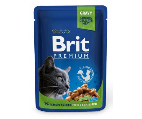 Brit Premium Cat Adult Sterilised Chicken pouch