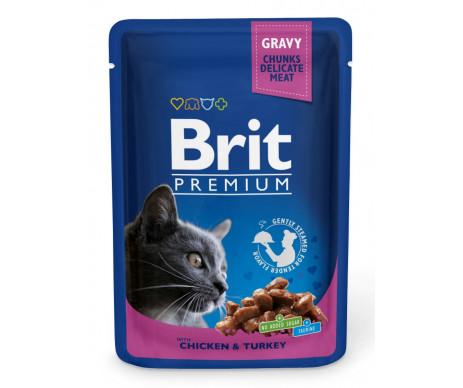 Brit Premium Cat Adult Chicken Turkey pouch