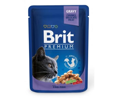 Brit Premium Cat Adult Cod Fish pouch