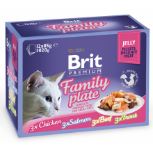 Brit Premium Cat Adult Family Plate Jelly pouch
