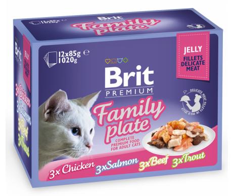 Brit Premium Cat pouch семейная тарелка в желе влажный корм для котов
